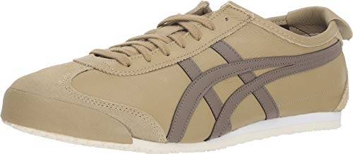 Onitsuka Tiger Unisex Mexico 66 Shoes 1183A201, Safari Khaki/DarkTaupe, 5.5 M - Safari Khaki