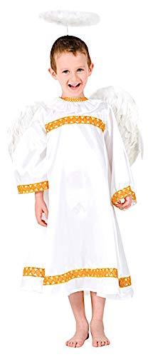 Costume di Carnevale da Angelo Bimba Vestito per Bambina Ragazza 1-6 Anni Travestimento Veneziano Halloween Cosplay Festa Party 8894 Taglia 2