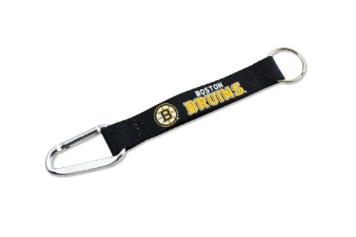 NHL Boston Bruins Carabiner Lanyard (Boston Bruins Nhl Keychain)