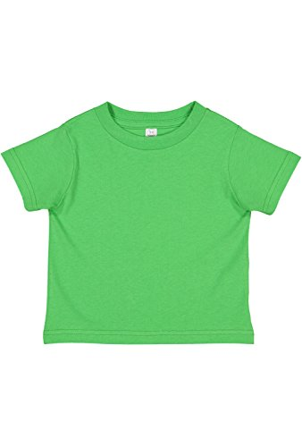 Rabbit Skins Infant 100% Cotton Jersey Short Sleeve Tee (Apple, 18 Months)