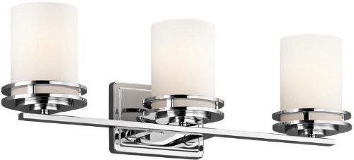 (Kichler 5078CH Bath 3-Light, Chrome)