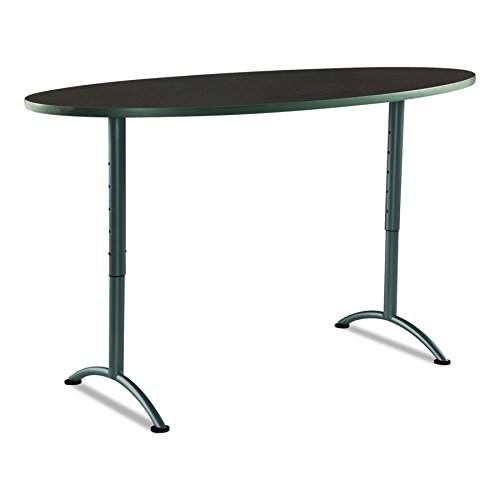 Iceberg ICE69624 ARC 6-foot Adjustable Height Oval Conference Table, 36'' x 72'', Walnut/Gray Leg by Iceberg (Image #4)
