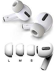 TORRYZA-pakket met 3 maten Memory Foam oordopjes Eartips voor Airpods Pro, vervangende oordopjes oordopjes Ruisonderdrukking – Grijs