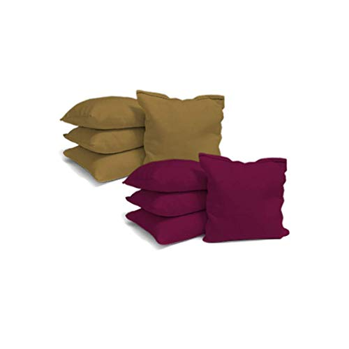 Victory Tailgate 8 Colored Corn Filled Regulation Cornhole Bags with Drawstring Pack (4 Burgundy, 4 Gold) by Victory Tailgate (Image #2)