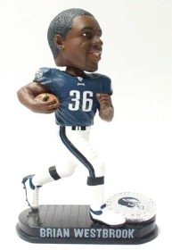 Philadephia Eagles Brian Westbrook Forever Collectibles Black Base Edition Bobble Head by Hall of Fame Memorabilia