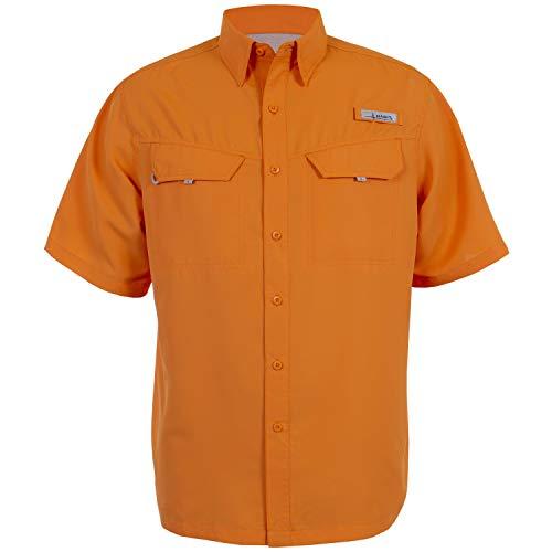HABIT Men's Ts1155 Short Sleeve River Guide Fishing Shirt, Mandarin (Autumn Glory), Medium