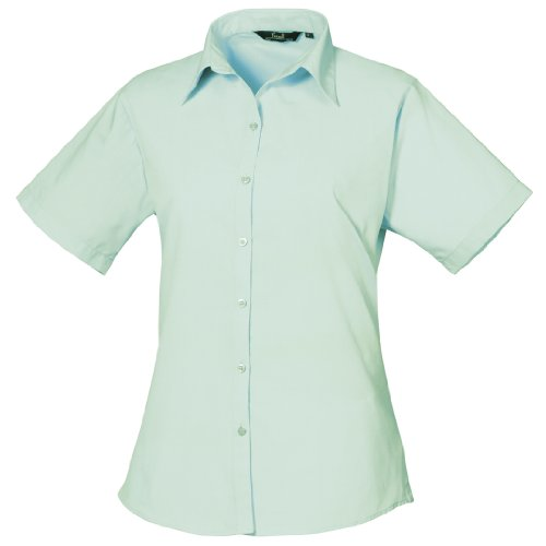 Para Aqua donna Mujer a popeline Camicetta WorkwearBlusa corte da in Premier maniche 3uT1JFclK