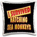 Designs Survive Sayings - I Survived Hatching Sea Monkeys Survial Pride And Humor Design - 16x16 inch Pillow Case