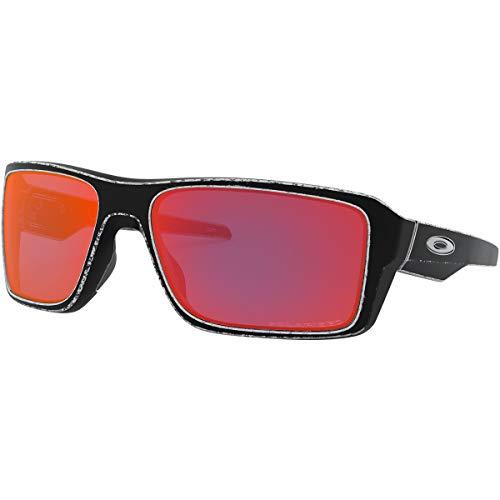 Oakley Men's Double Edge Sunglasses,OS,Raceworn White/Torch Iridium Polarized (Oakley Unobtainium)