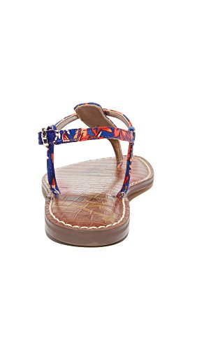 Festival Sam Sandals Edelman Print Blue Floral Women's Multi Gigi wU1SP