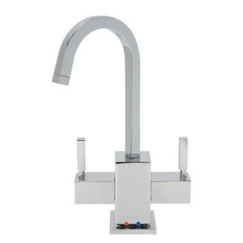 Plumbing Square Handle Mountain - Mountain Plumbing MT1501-NL/CPB Square Hot and Cold Faucet in Polished Chrome
