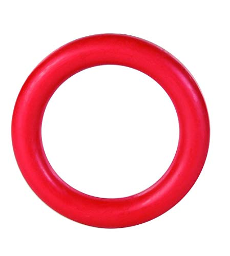 """Dog Ring Chew Toy – Durable 6"""" Dog Ring Toy Made of Natural Rubber Non-Toxic – Fun Dog Tug of War Toy Chew Ring…"""