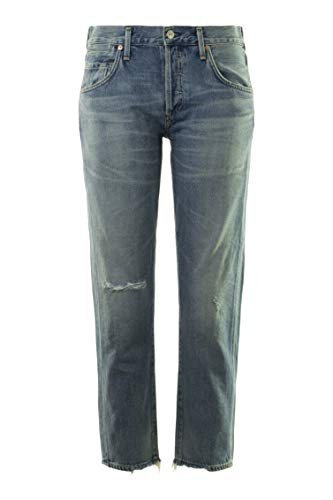Citizens of Humanity Women's Emerson Slim Crop Boyfriend, Haven (25) Citizens Of Humanity Button Fly Jeans
