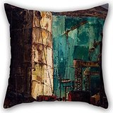 (Artistdecor Oil Painting KÄrlis Padegs - The Port (The Dock) Cushion Covers 20 X 20 Inches / 50 By 50 Cm Best Choice For Her,lover,car,kids Boys,teens Girls,kids Girls With Each)