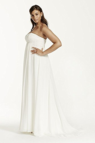 Crinkle Chiffon Plus Size Wedding Dress
