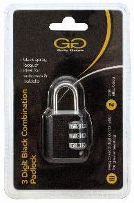 Guilty Gadgets Cadenas /à combinaison /à 3 chiffres Noir Taille S