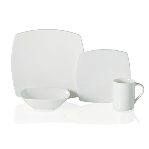White 4 Piece Place Setting - 7