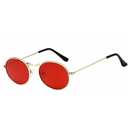 Vintage Gafas Rojo Uv400 Redonda Bastidor Red Posterior Steampunk Sol De Metal Del Gold Mujer Sol De Hombre Gafas De Oro TIANLIANG04 Gafas aBqHw8x