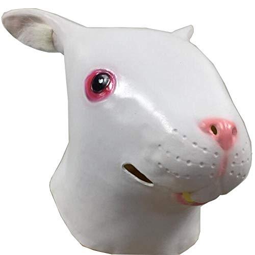 Rwdacfs Halloween mask,Bunny Wig Make-up Prank Props -