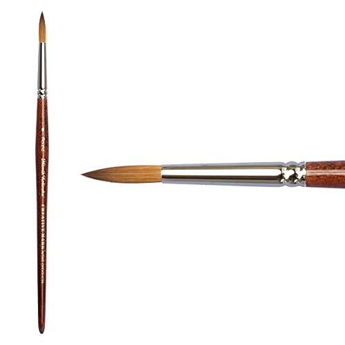 Creative Mark Mimik Kolinsky Professional Artist Synthetic Sable Short Handled Brush- Round #8 by Creative Mark