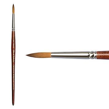 Round #4 Creative Mark Mimik Kolinsky Professional Artist Synthetic Sable Short Handled Brush