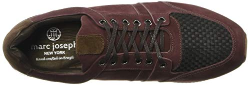 Marc Joseph New York Men's Genuine Leather Made in Brazil Luxury Fashion Trainer Sneaker, Wine Nubuck, 12 M US