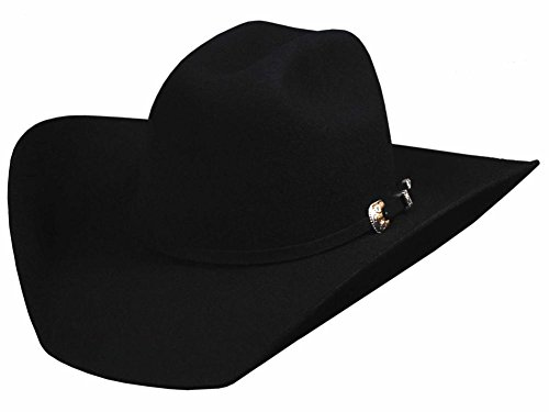- Bullhide Hats 0550Bl Rodeo Round-Up Collection Kingman 4X 6 3/4 Black Cowboy Hat
