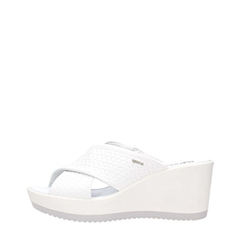 Blanc Italy Femme Bianco amp;Co Talon en Wedge Igi Sandale Cuir 1177655 Made Flétrie in Zwx7qz4