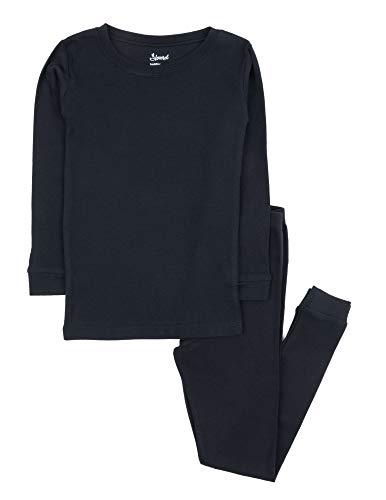 Leveret Kids Pajamas Boys & Girls Solid Navy 2 Piece Pajama Set 100% Cotton Size 3 Years