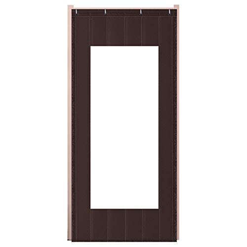 JIANFEI Door Curtain Keep Warm Winter The Mall Outdoor,4 Colors 17 Size Customizable (Color : Brown, Size : 80x180cm)