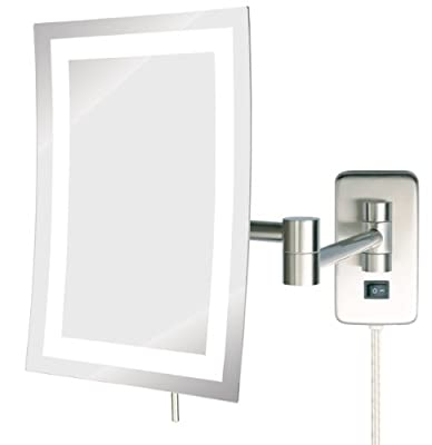 Best Cheap Deal for Jerdon JRT710NL 6.5-Inch by 9-Inch LED Lighted Wall Mount Rectangular Makeup Mirror, Nickel Finish by Jerdon - Free 2 Day Shipping Available