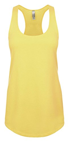 (Next Level Apparel Women's Tear-Away Tank Top, Banana Cream, Large)