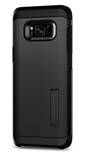 Spigen Tough Armor Galaxy S8 Case with Kickstand and Extreme Heavy Duty Protection and Air Cushion Technology for Samsung Galaxy S8 (2017) - (Black Kickstand Case)