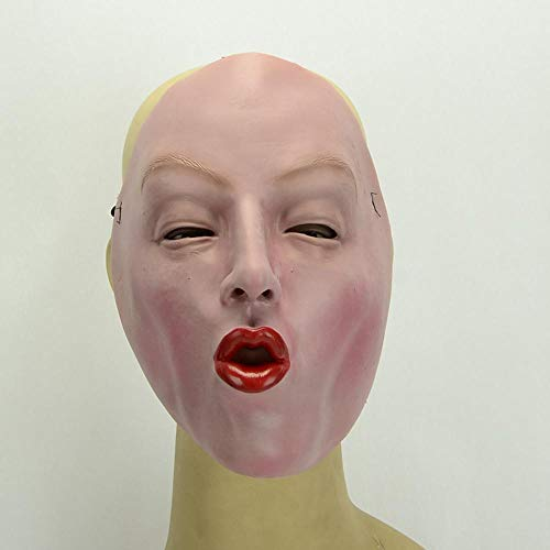 Rwdacfs Halloween mask,Halloween Masquerade Red Lip Woman Latex mask ()