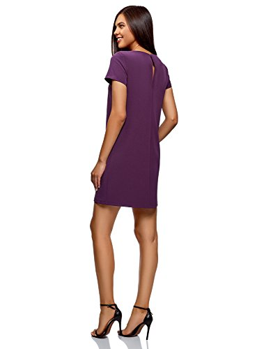 8800n Basic Abito Collection Viola Donna Dritto oodji q1Y7x