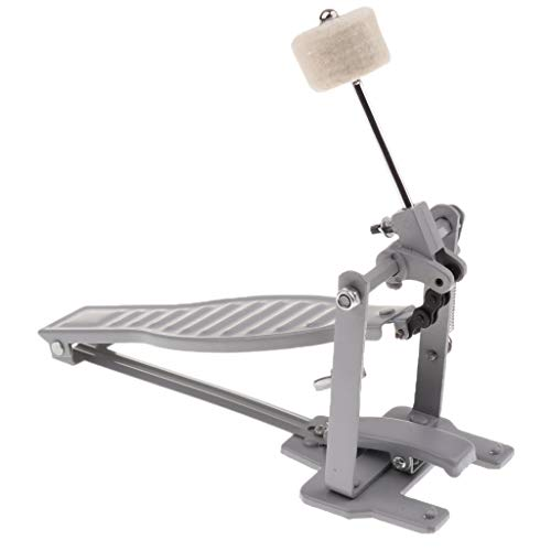 Baosity Single Spring Bass Drum Pedal with Drum Wool Beater for Children Gift - Silver ()