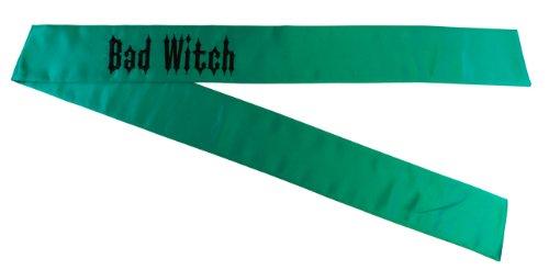 [Bad Witch Green Deluxe Halloween Costume Sash] (Bad Witch Halloween Costumes)