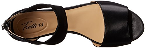 Maddy Wedge Black Sandal Women's Trotters Hqw1zPYH