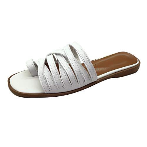 Londony Shoes Signature Sandal: Comfort Walking Ergonomic Flip Flops, Slides & Sandals for Women White