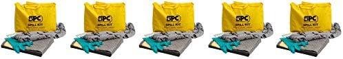 Brady SPC SKA-PP Allwik Universal Economy Portable Spill Kit - 107795, Yellow (Five Pack)