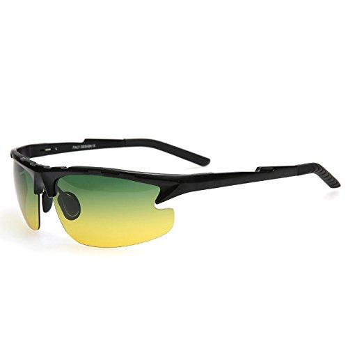 Día viaje AYUDA Visión MODO de de de polarizadas sol UV400 de Il Nocturna Gafas plata gradiente LOS nero A DE protección gafas HOMBRES lentes gafas TIANLIANG04 dtXqBwxd