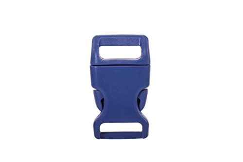 15mm Plastic Buckle Color Navy 10PCS (Colored Buckle)
