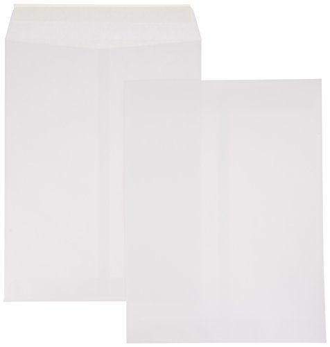 AmazonBasics Catalog Mailing Envelopes, Peel & Seal, 9x12 Inch, White, 100-Pack