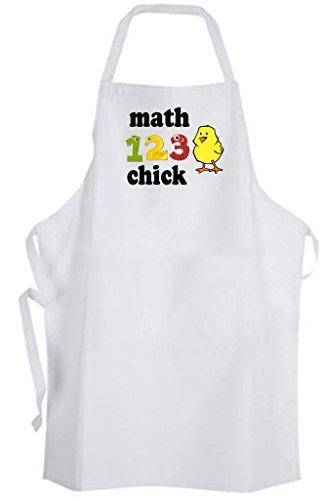 Math Chick - Adult Size Apron - Girly Girl Mathematician Numbers Nerd