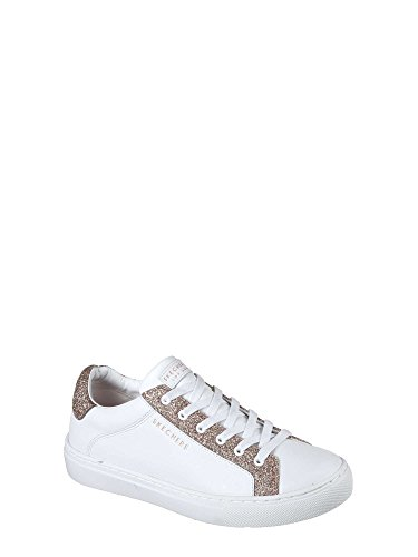 Kickz White Skechers Side Rose Street Sneaker Fashion Glitz Gold Women's xI1Z7