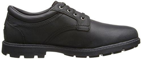 Rockport Men's Rugged Bucks Plain Toe Waterproof Oxford Shoe Black Waterproof clearance shop emQDAmC