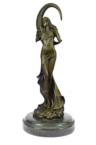 Venus Under The Moon by French Artist Moreau Bronze Sculpture Figurine Figure