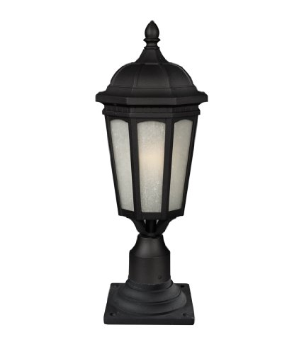 Z-Lite 508PHB-533PM-BK 1 Outdoor Post Mount Light, Black