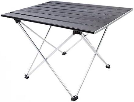 Nosterappou Mesa plegable y fácil de transportar, aleación de ...