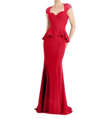 La Abendkleider Fesltichkleider Promkleider Rot mia Lang Partykleider Damen Pailletteen Braut Etuikleider 1xaqrX1